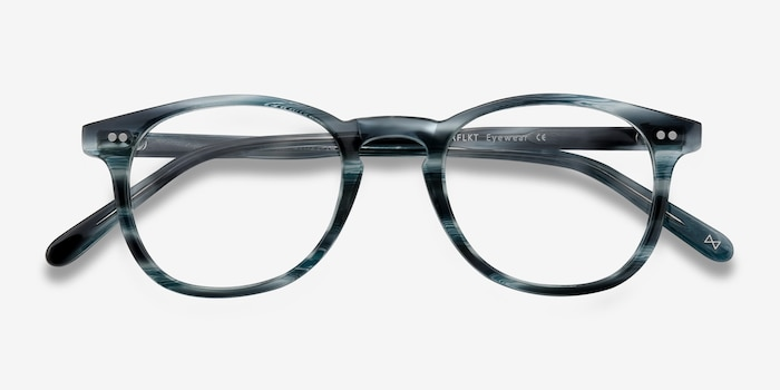 Symmetry Ocean Tide Acetate Eyeglass Frames from EyeBuyDirect, Closed View