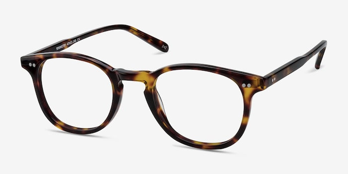 Symmetry Tortoise Acetate Eyeglass Frames from EyeBuyDirect, Angle View
