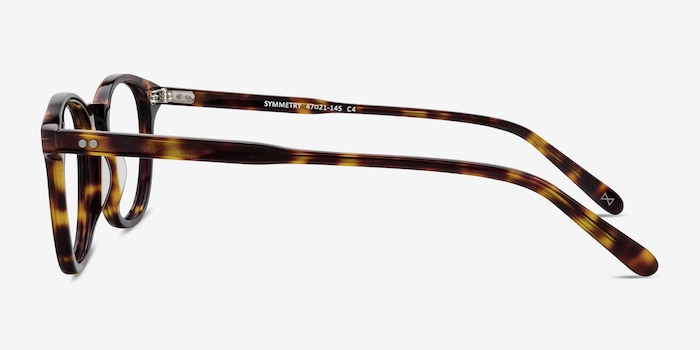 Symmetry Tortoise Acetate Eyeglass Frames from EyeBuyDirect, Side View