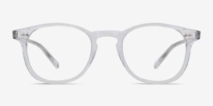 Symmetry Translucent Acetate Eyeglass Frames from EyeBuyDirect, Front View