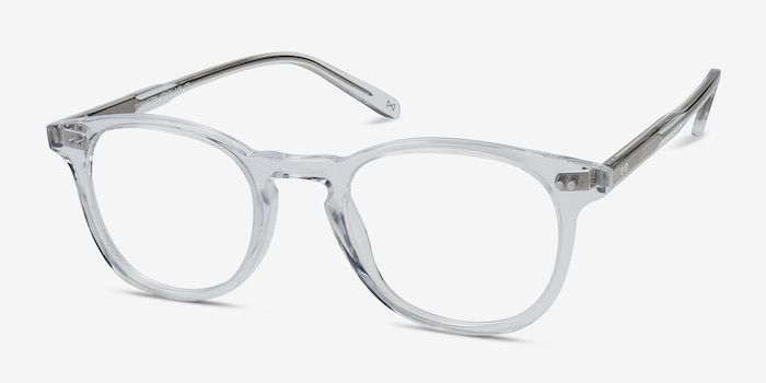 Symmetry Translucent Acetate Eyeglass Frames from EyeBuyDirect, Angle View