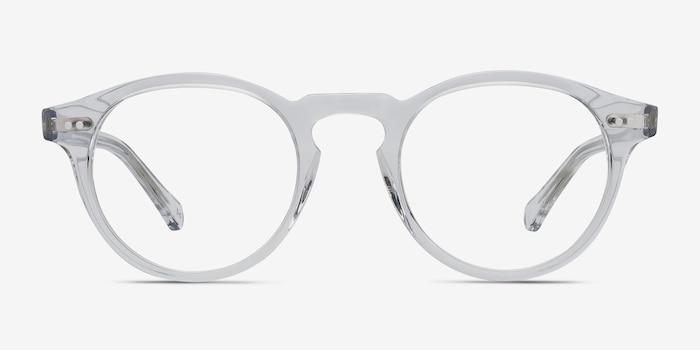 Theory Clear Acetate Eyeglass Frames from EyeBuyDirect, Front View