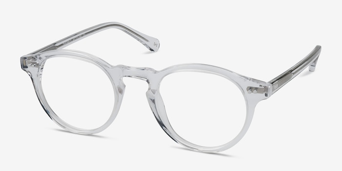 Theory Clear Acetate Eyeglass Frames from EyeBuyDirect, Angle View