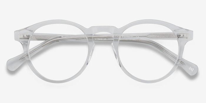 Theory Clear Acetate Eyeglass Frames from EyeBuyDirect, Closed View