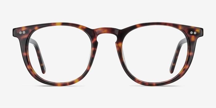 Aurora Warm Tortoise Acetate Eyeglass Frames from EyeBuyDirect, Front View