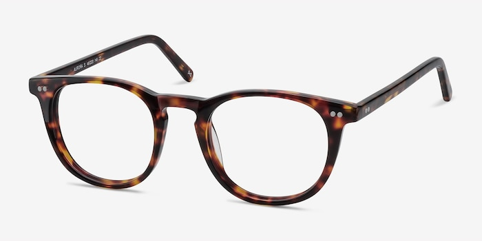 Aurora Warm Tortoise Acetate Eyeglass Frames from EyeBuyDirect, Angle View