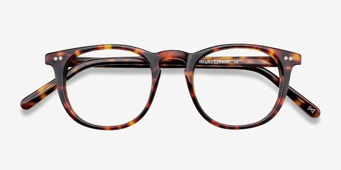 Aurora Warm Tortoise Acetate Eyeglass Frames from EyeBuyDirect, Closed View