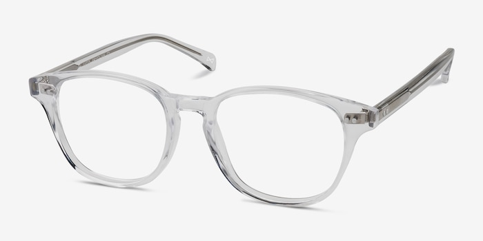 Lucid Translucent Acetate Eyeglass Frames from EyeBuyDirect, Angle View