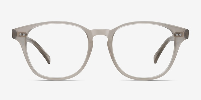 Lucid Clear Gray Acetate Eyeglass Frames from EyeBuyDirect, Front View