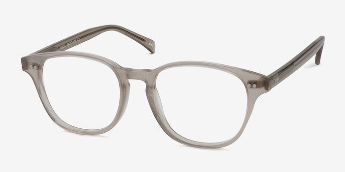 Lucid Clear Gray Acetate Eyeglass Frames from EyeBuyDirect, Angle View