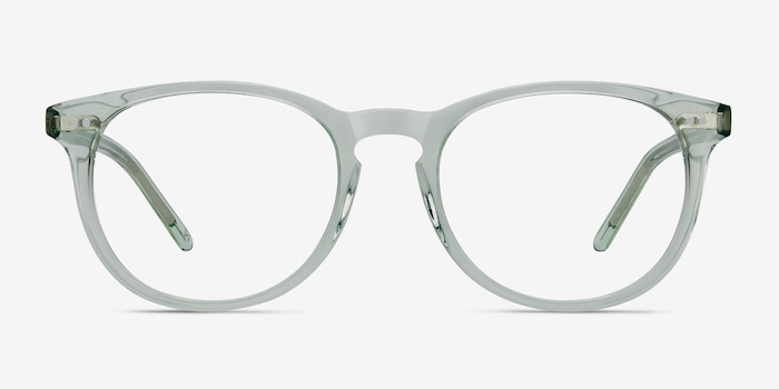 Aura Clear Jade Acetate Eyeglass Frames from EyeBuyDirect, Front View