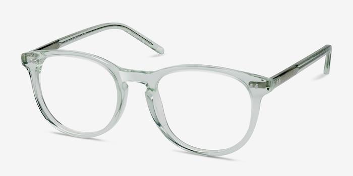Aura Clear Jade Acétate Montures de Lunettes d'EyeBuyDirect, Vue d'Angle