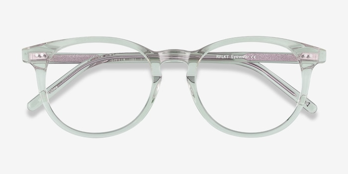 Aura Clear Jade Acetate Eyeglass Frames from EyeBuyDirect, Closed View