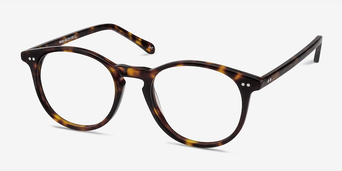 Prism Tortoise Acetate Eyeglass Frames from EyeBuyDirect, Angle View