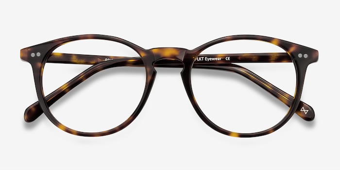 Prism Tortoise Acetate Eyeglass Frames from EyeBuyDirect, Closed View