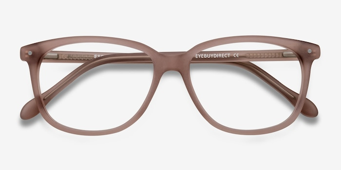 Escape Matte Pink Acetate Eyeglass Frames from EyeBuyDirect, Closed View
