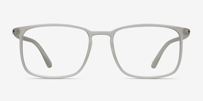 Structure Frosted Clear Plastic Eyeglass Frames from EyeBuyDirect, Front View