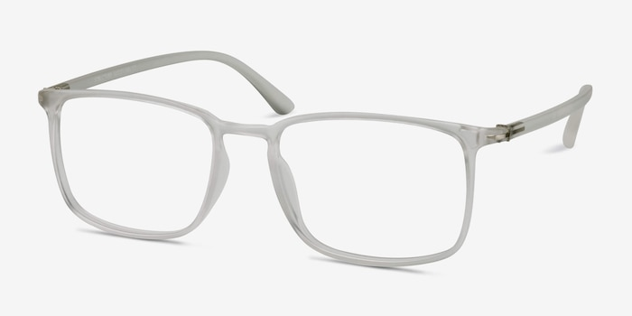 Structure Frosted Clear Plastic Eyeglass Frames from EyeBuyDirect, Angle View