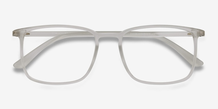 Structure Frosted Clear Plastic Eyeglass Frames from EyeBuyDirect, Closed View