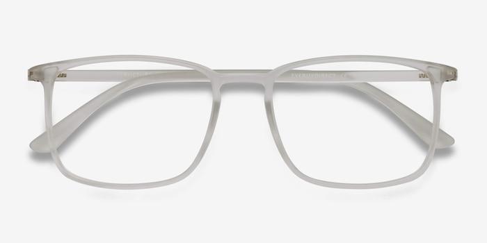 Structure Mat Transparent Plastique Montures de Lunettes d'EyeBuyDirect, Vue Rapprochée