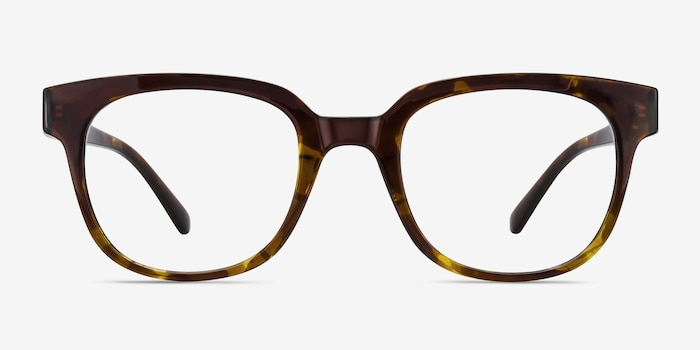 Flashback Honey Tortoise Plastic Eyeglass Frames from EyeBuyDirect, Front View