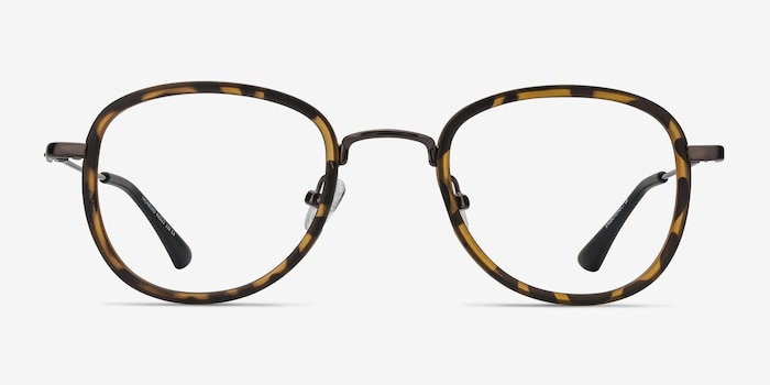 Vagabond Tortoise Plastic Eyeglass Frames from EyeBuyDirect, Front View