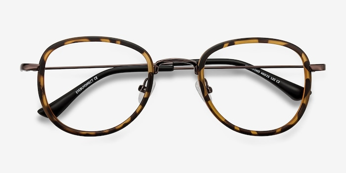 Vagabond Tortoise Plastic Eyeglass Frames from EyeBuyDirect, Closed View