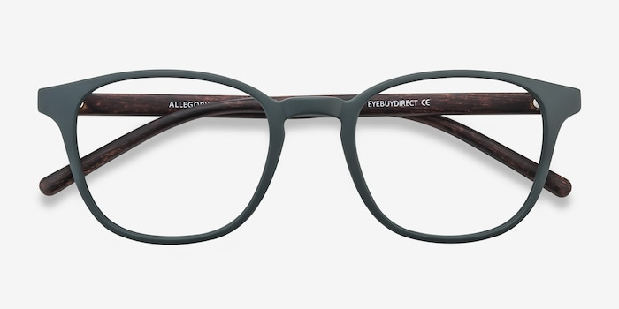 Allegory Dark Green Plastic Eyeglass Frames from EyeBuyDirect, Closed View