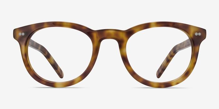 Andromeda Cinnamon Tortoise Acetate Eyeglass Frames from EyeBuyDirect, Front View