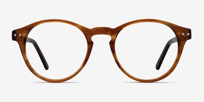 Method Brown Acetate Eyeglass Frames from EyeBuyDirect, Front View