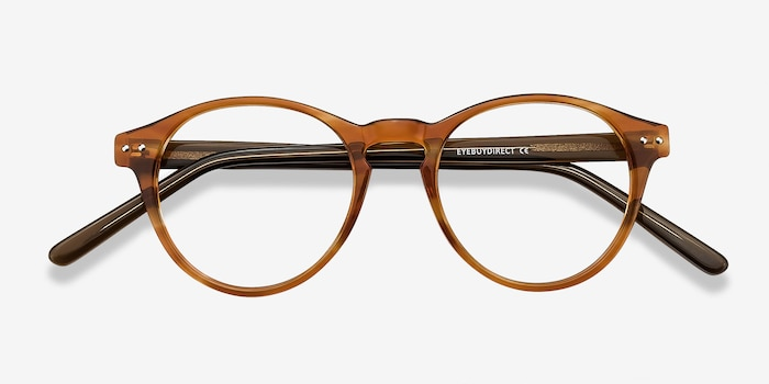 Method Brown Acetate Eyeglass Frames from EyeBuyDirect, Closed View