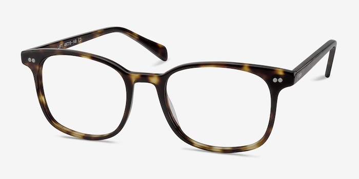 Lift Tortoise Acetate Eyeglass Frames from EyeBuyDirect, Angle View