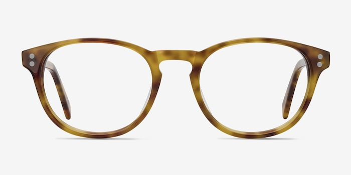 Split Tortoise Acetate Eyeglass Frames from EyeBuyDirect, Front View