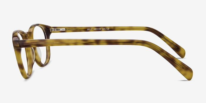 Split Tortoise Acetate Eyeglass Frames from EyeBuyDirect, Side View