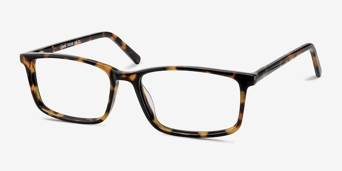 Crane Tortoise Acetate Eyeglass Frames from EyeBuyDirect, Angle View