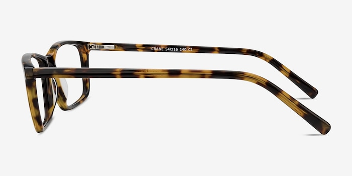 Crane Tortoise Acetate Eyeglass Frames from EyeBuyDirect, Side View