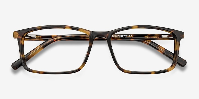 Crane Tortoise Acetate Eyeglass Frames from EyeBuyDirect, Closed View