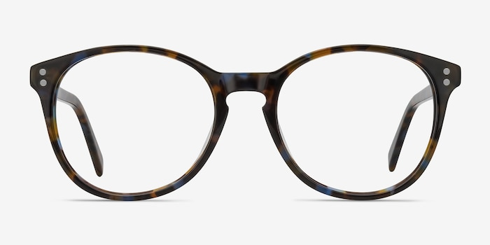 Pride Brown Floral Acetate Eyeglass Frames from EyeBuyDirect, Front View
