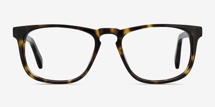 Rhode Island Tortoise Acetate Eyeglass Frames from EyeBuyDirect, Front View
