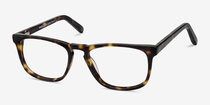 Rhode Island Tortoise Acetate Eyeglass Frames from EyeBuyDirect, Angle View