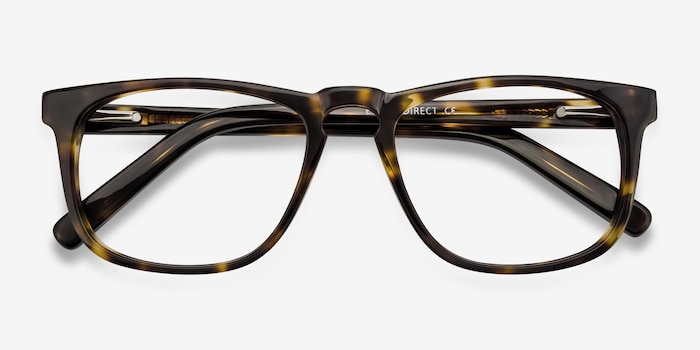 Rhode Island Tortoise Acetate Eyeglass Frames from EyeBuyDirect, Closed View