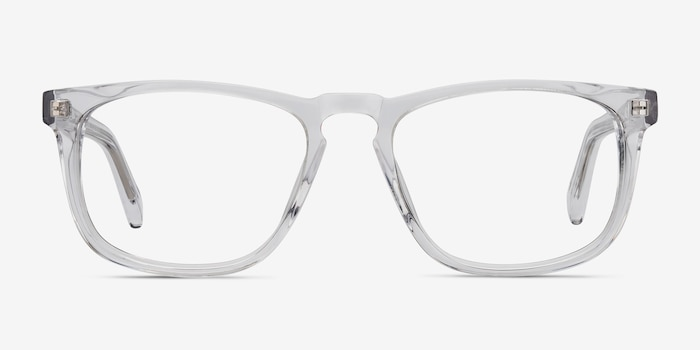 Rhode Island Clear Acetate Eyeglass Frames from EyeBuyDirect, Front View