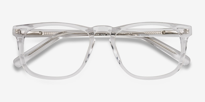 Rhode Island Clear Acetate Eyeglass Frames from EyeBuyDirect, Closed View