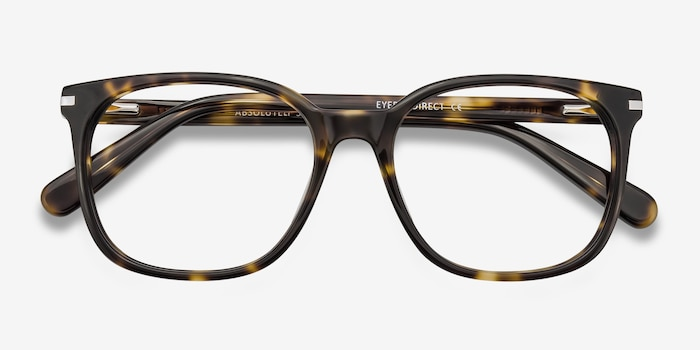 Absolutely Tortoise Acetate Eyeglass Frames from EyeBuyDirect, Closed View