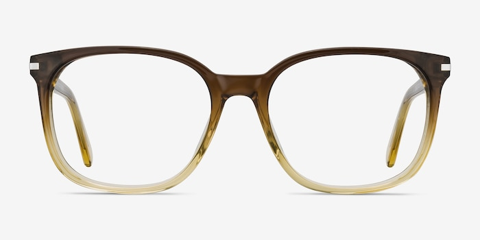 Absolutely Brown Acetate Eyeglass Frames from EyeBuyDirect, Front View