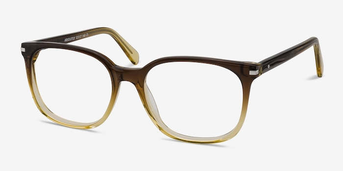 Absolutely Brown Acetate Eyeglass Frames from EyeBuyDirect, Angle View