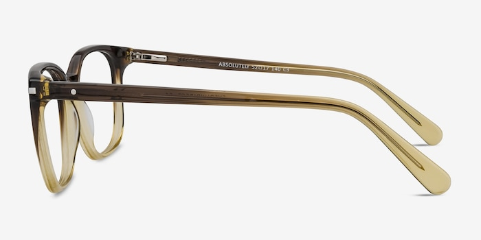 Absolutely Brown Acetate Eyeglass Frames from EyeBuyDirect, Side View