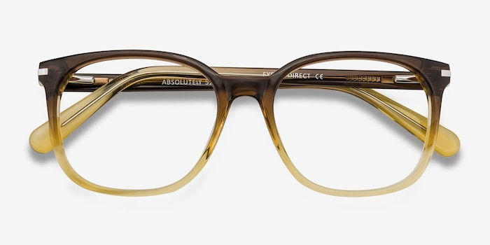 Absolutely Brown Acetate Eyeglass Frames from EyeBuyDirect, Closed View