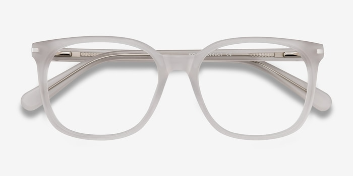 Absolutely White Acetate Eyeglass Frames from EyeBuyDirect, Closed View
