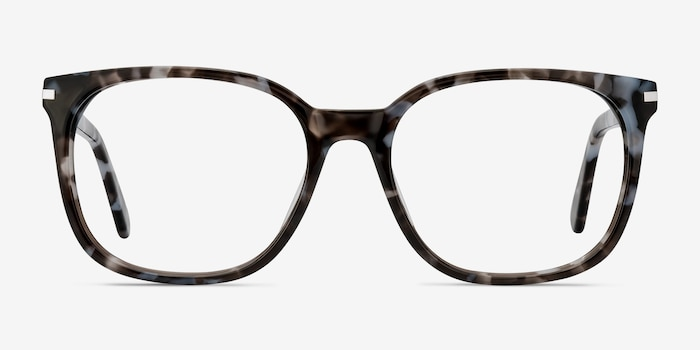 Absolutely Gray Floral Acetate Eyeglass Frames from EyeBuyDirect, Front View